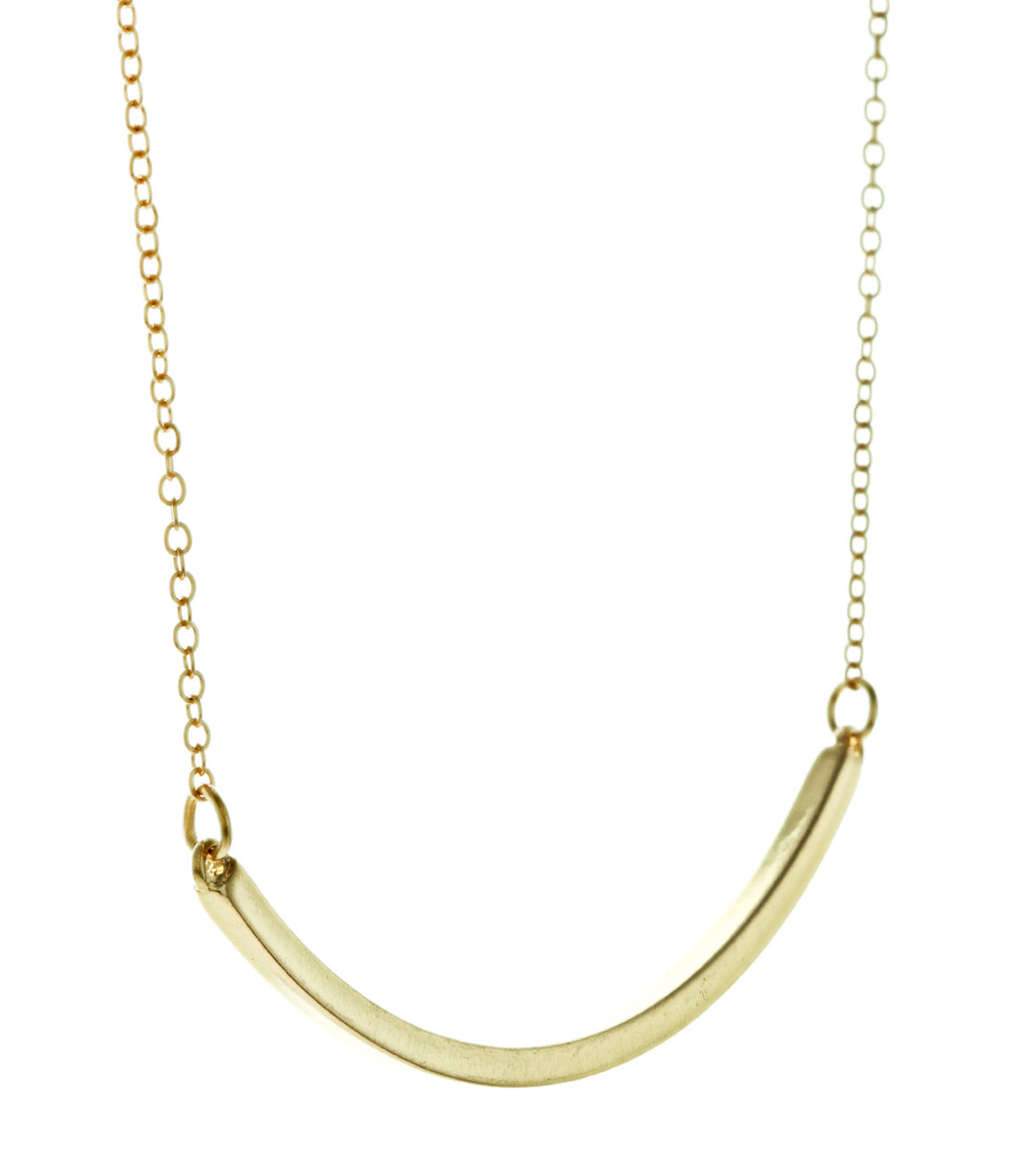 Modern curved Bar Necklace