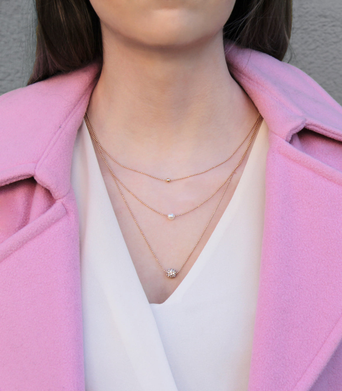 Trajectory Triple Chain Necklace