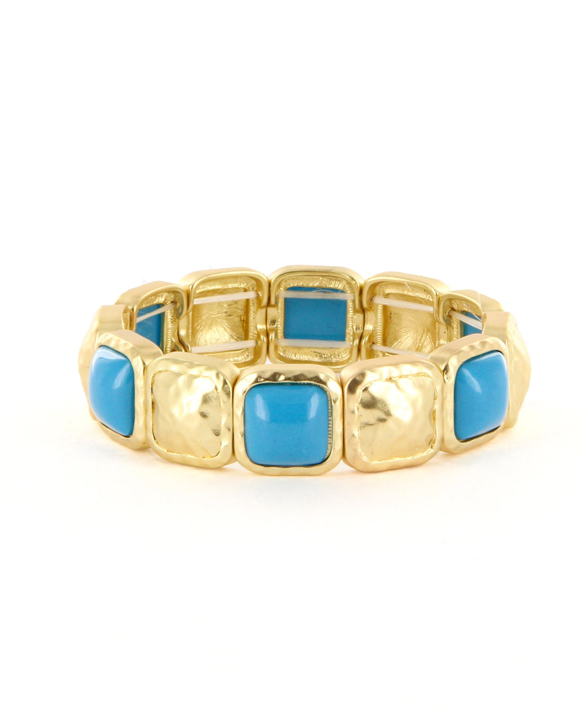 Square stretch gem bracelet.