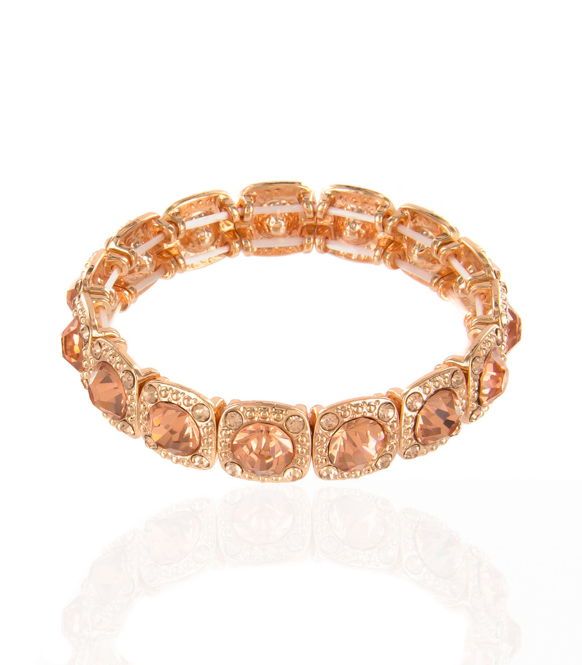 Square rhinestone Stretch Bracelet.