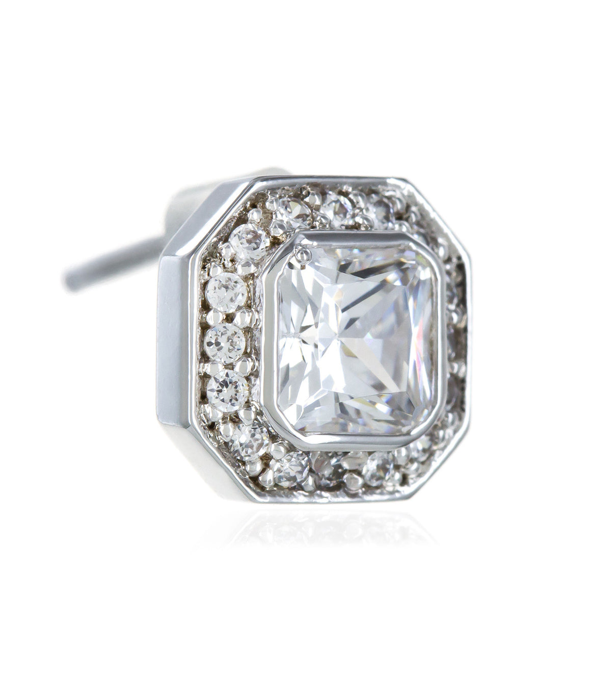 Square stud Cubic Zirconia Earringss.