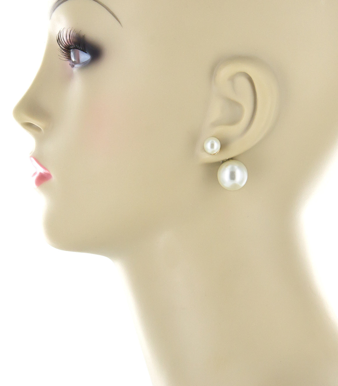 Double sided faux Pearl Earringss.
