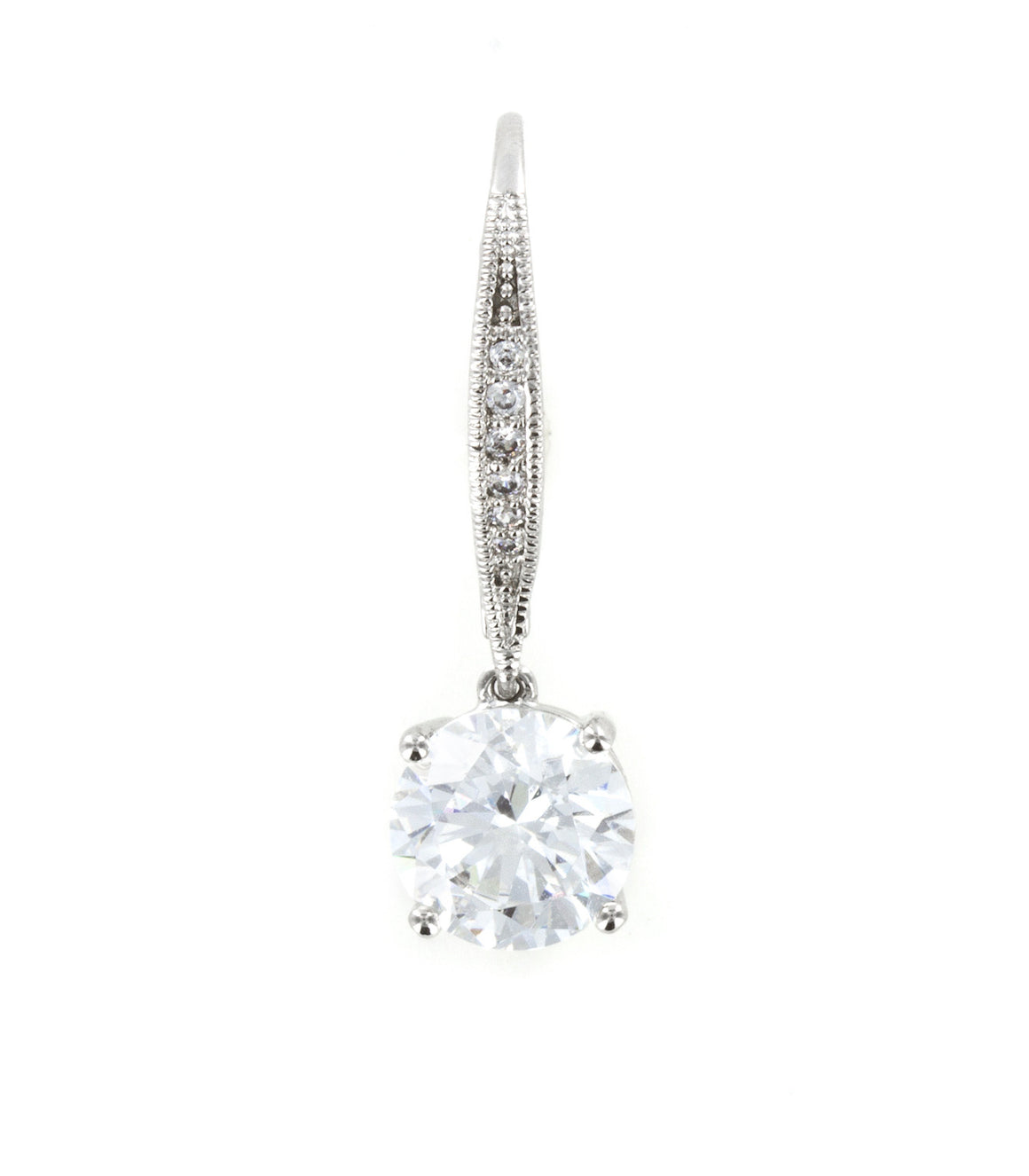 Classic cubic zirconia square cut Dangle Earringss.