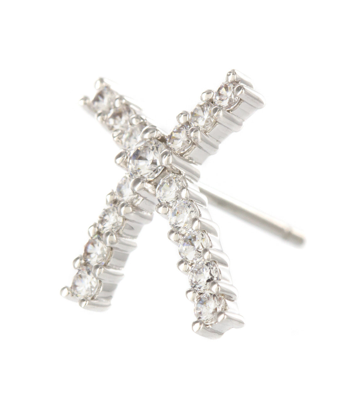 XO kiss cubic zirconia Stud Earrings.