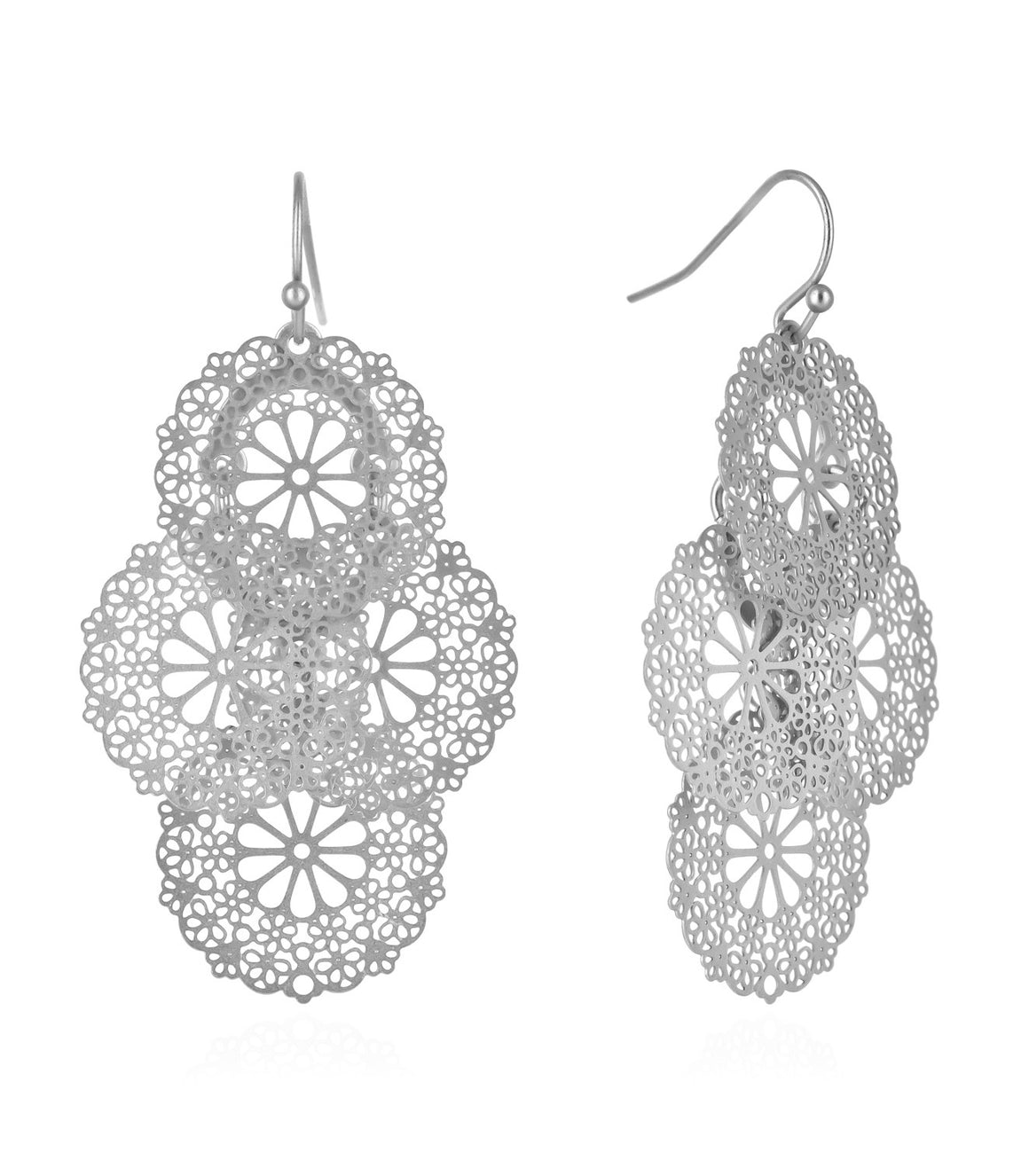 Chrysanthemum Filigree Chandelier Earrings