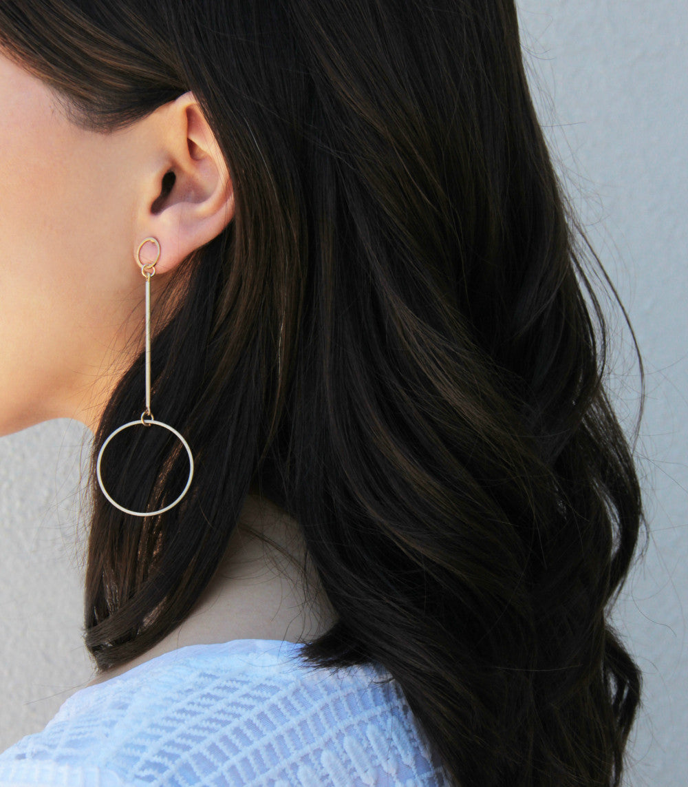 Orbital Circle Drop Earrings