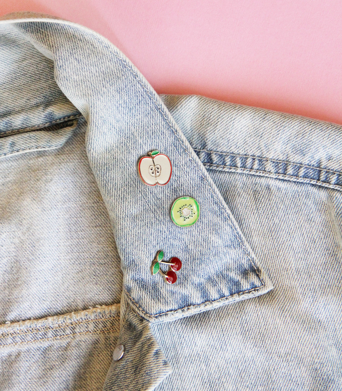Cute Fruits Bright Enamel Pin Pack