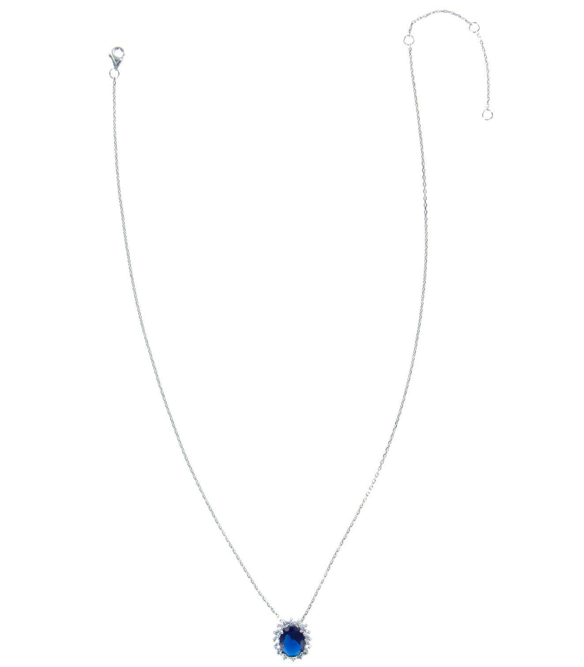 925 blue cz Sterling Silver Necklace
