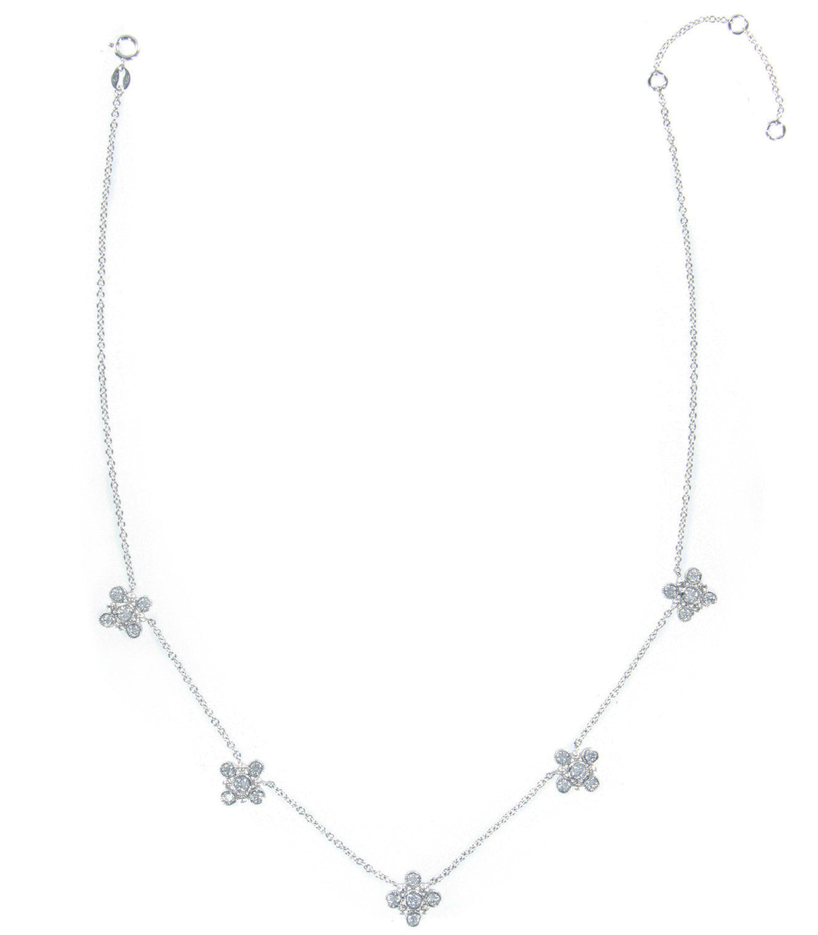 925 sterling silver quatrefoil clover necklace
