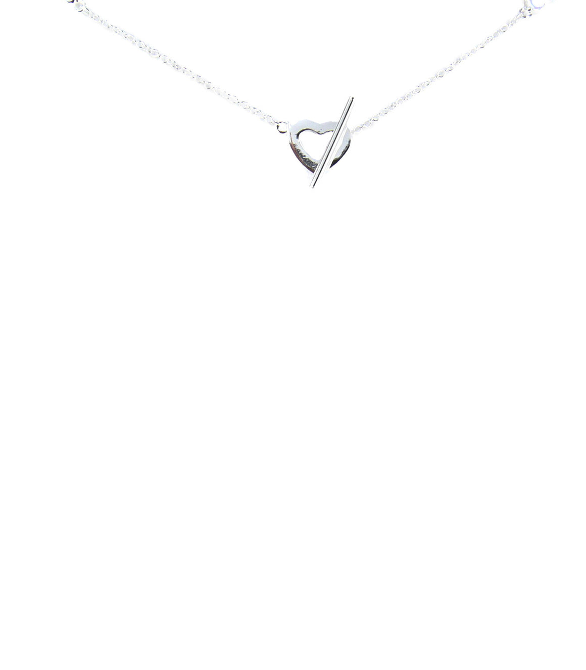 925 Sterling silver heart strand necklace