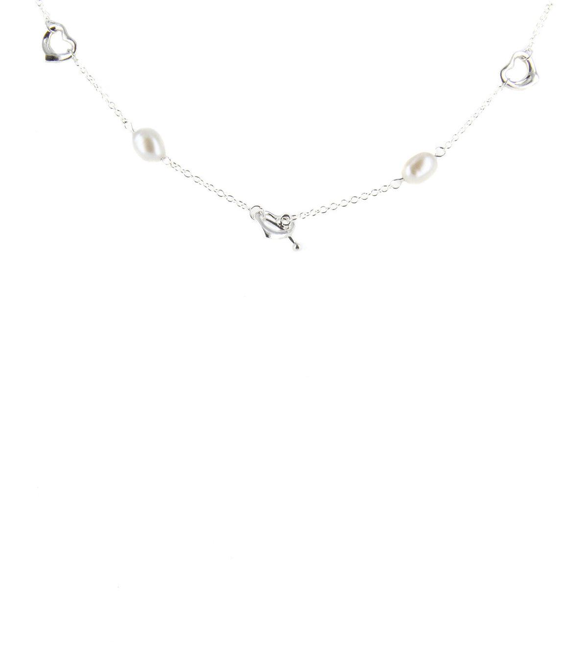925 Sterling silver heart and Pearl Necklace