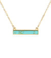 Minimal bar turquoise necklace