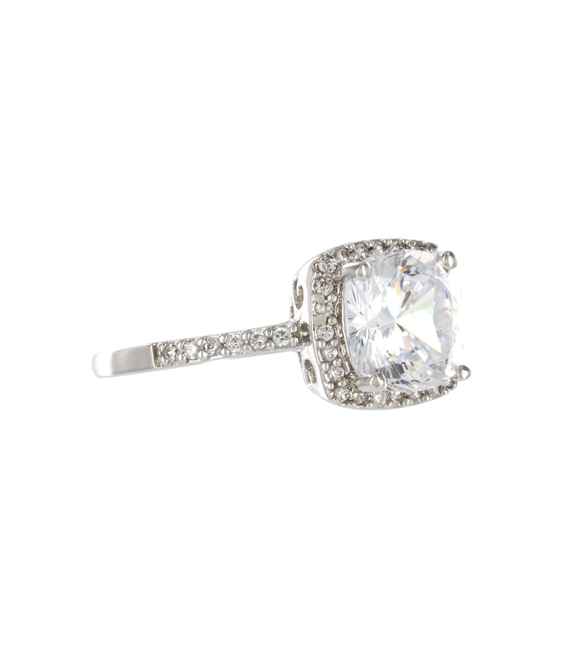Oversize statement Cubic Zirconia Ring.