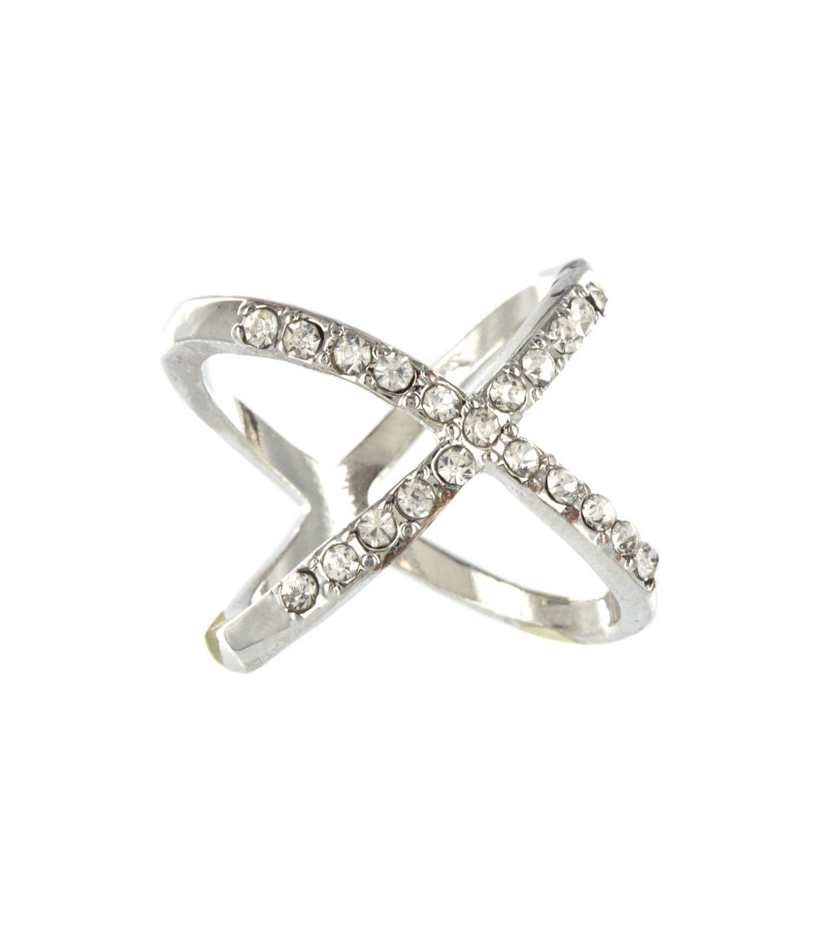 Delicate x rhinestone Sized Ring.
