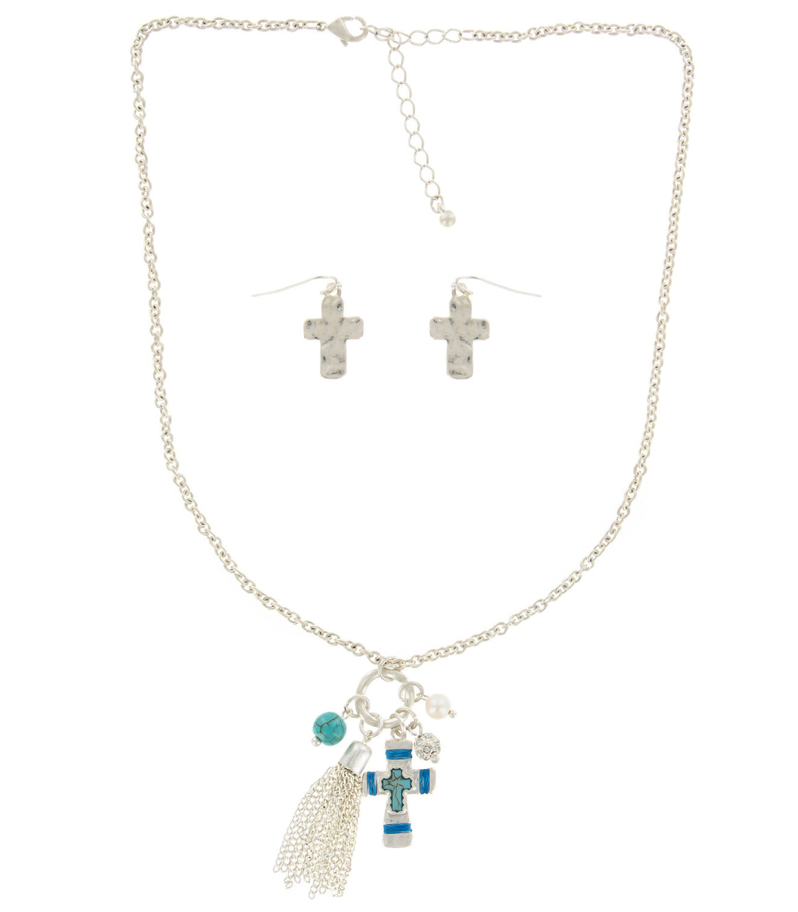 Southwestern cross necklace.