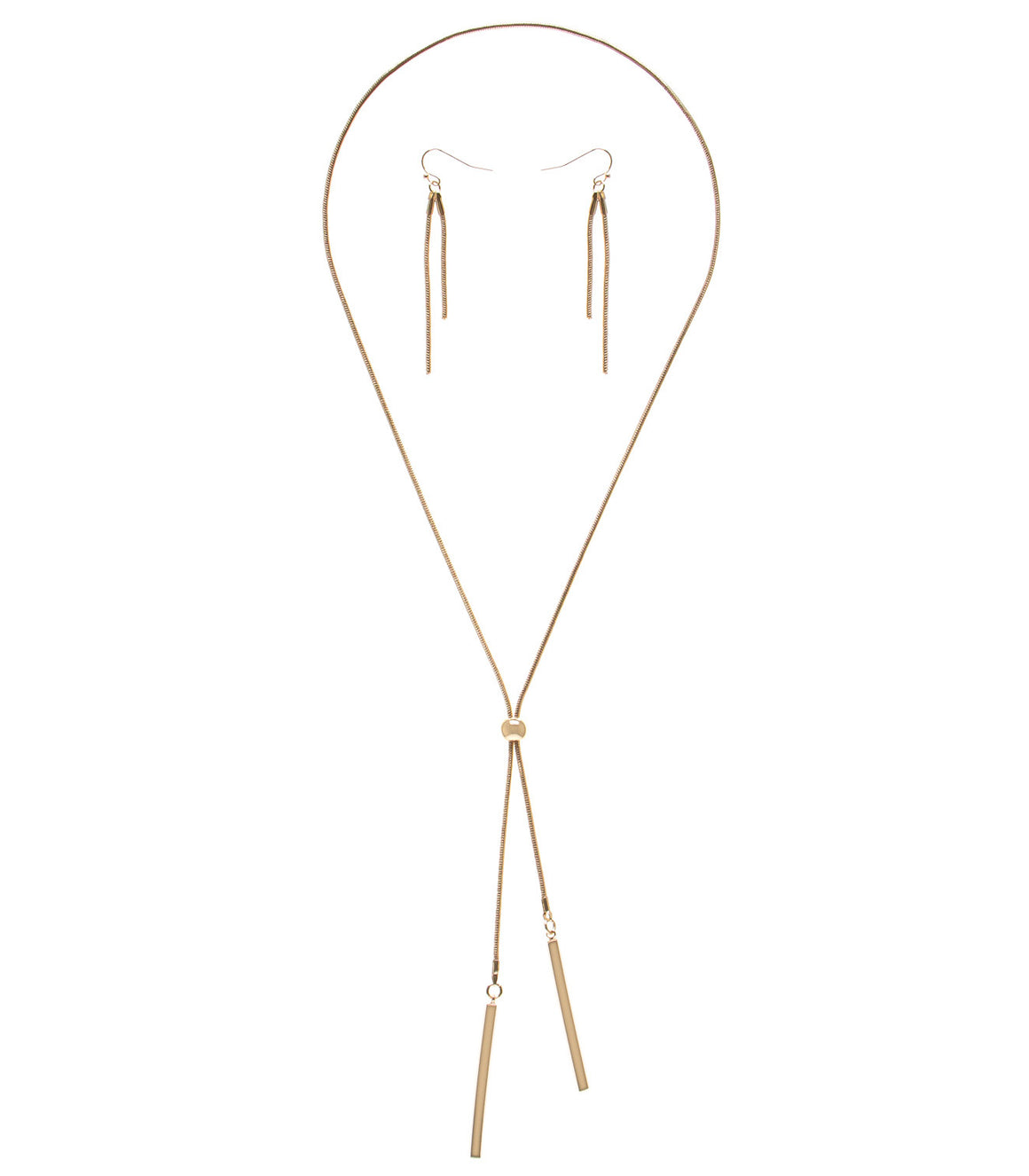 Bar Bolo Adjustable Necklace Set in Gold-Tone