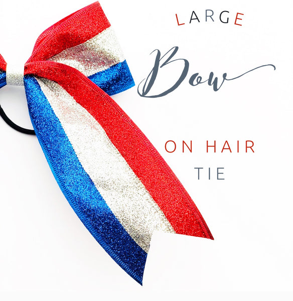 Big/Cheer Bow 4th of July Hair Bow - Apollo & Wynn