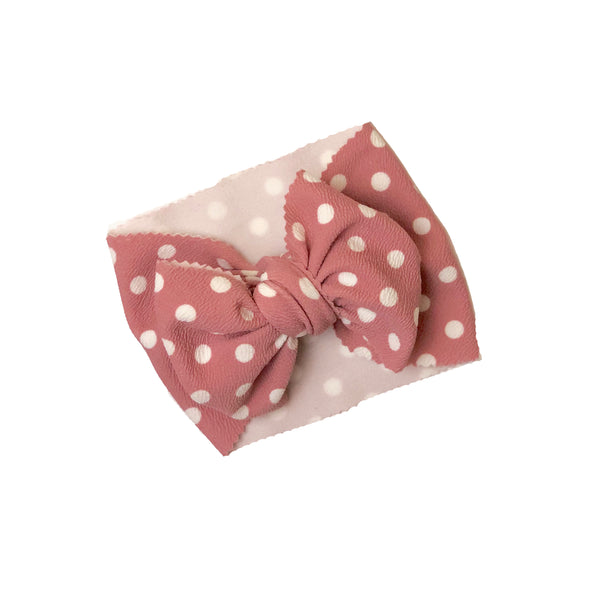 Pink Polka Dot Head Wrap - Apollo & Wynn