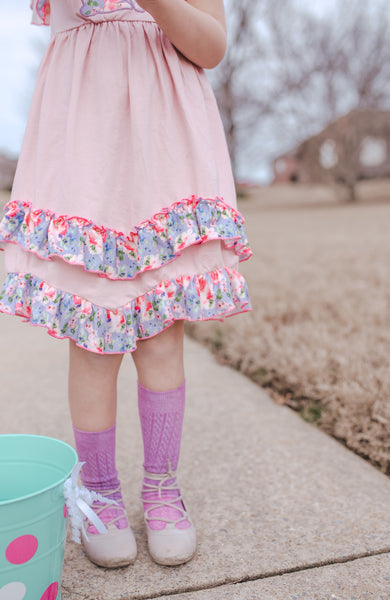 Bunny Floral Dress + Bow