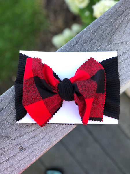 Red Buffalo Plaid Head Wrap