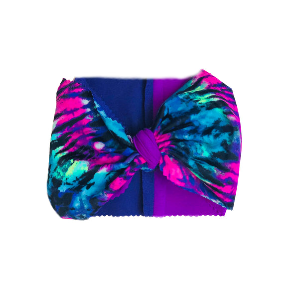 Tie Dye Jewel Tone Head Wrap