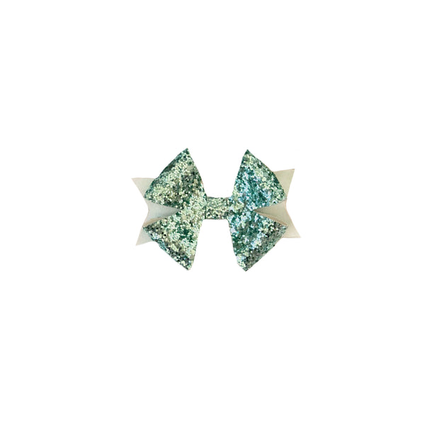 Aqua Star Glitter Bow - Apollo & Wynn