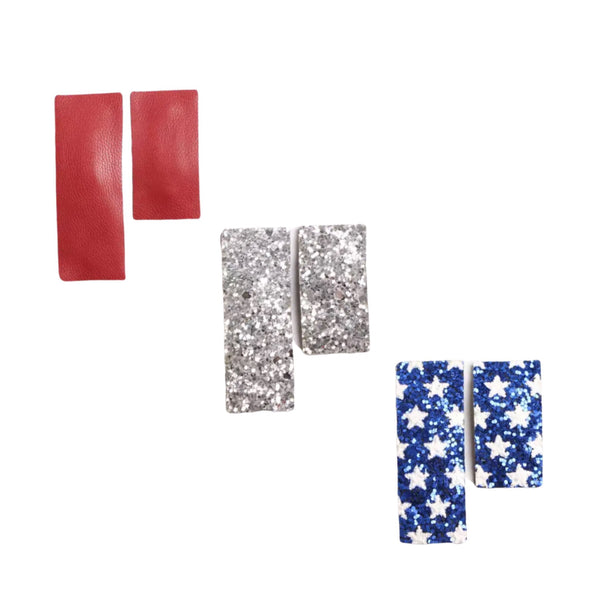 Fourth of July Snap Hair Clip Set - Apollo & Wynn