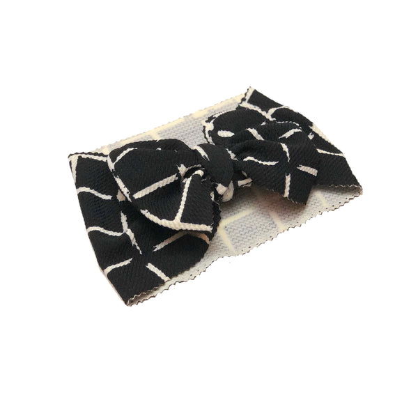 Black Criss Cross Head Wrap - Apollo & Wynn