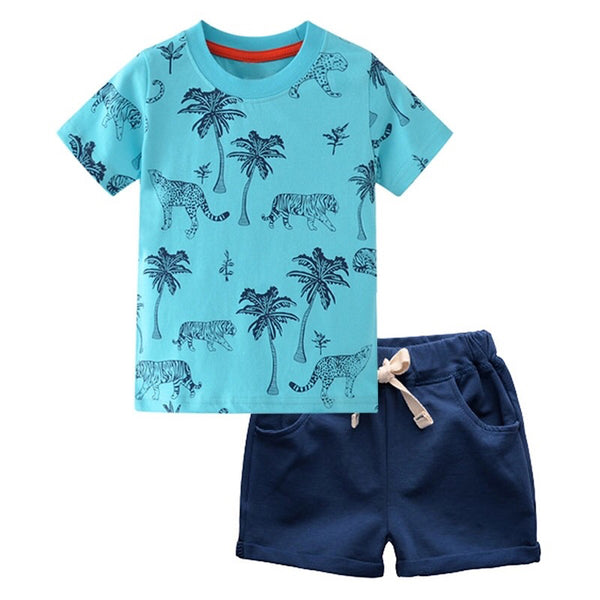 Tiger Palm Tree Shirt + Shorts