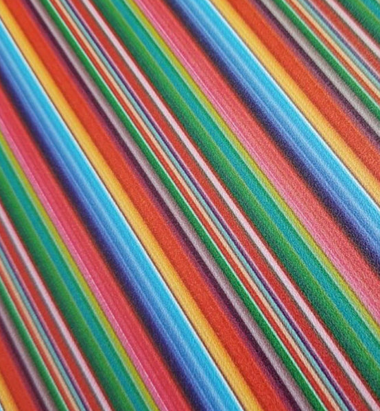 Rainbow Serape Faux Leather Bow