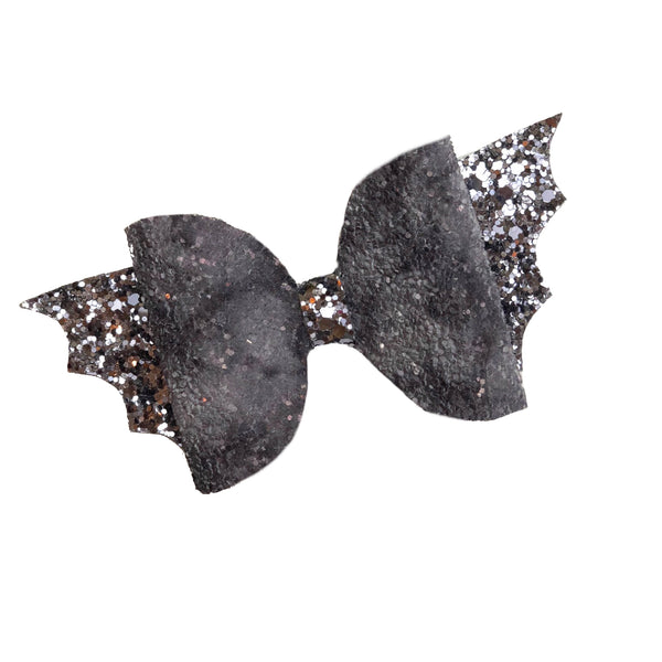 Glitter Bat Bow Hair Clip