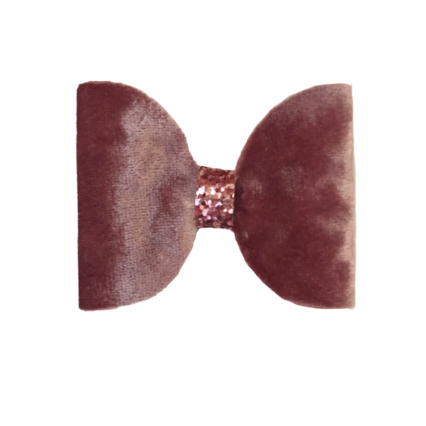 Pink Velvet Hair Clip - Apollo & Wynn