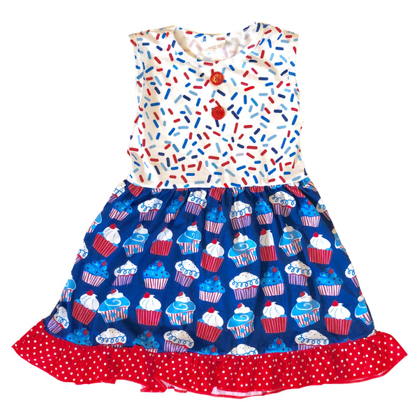 Fourth of July Cupcake Dress - Apollo & Wynn