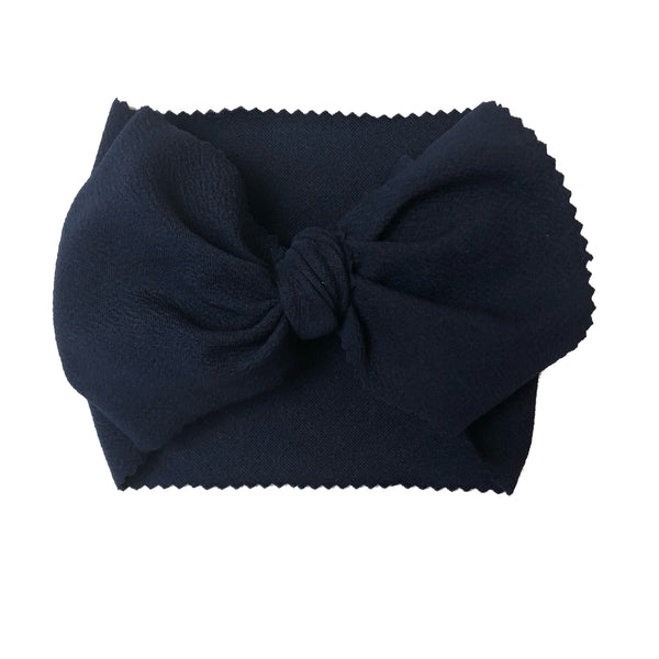 Navy Blue Head Wrap