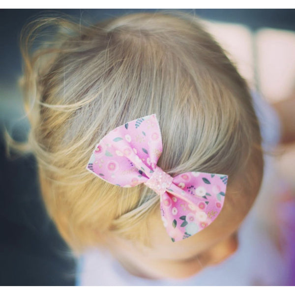 Floral Leatherette Bow Headband