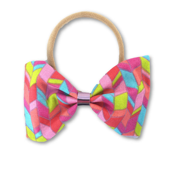 Geometric Bow Headband