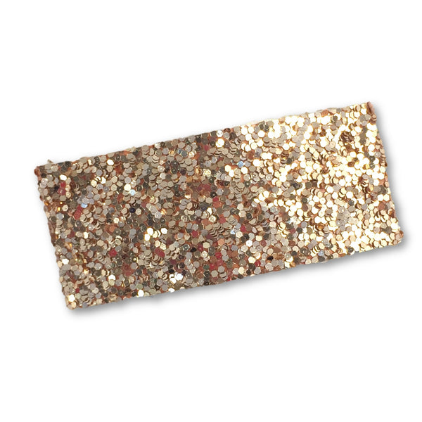 Glitter Snap Hair Clip (Rose Gold)