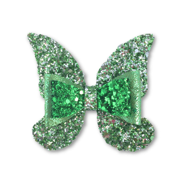 Butterfly/Fairy Green Glitter Hair Clip - Apollo & Wynn