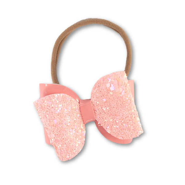 Emma Peach/Coral Bow Headband - Apollo & Wynn