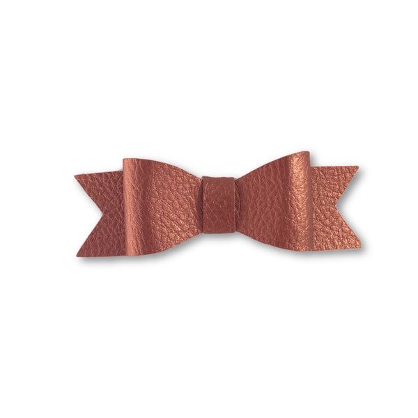 Wynn Copper Leatherette Bow Hair Clip