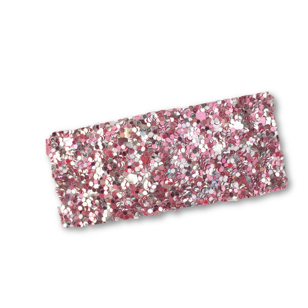 Glitter Snap Hair Clip (Pink Mix)