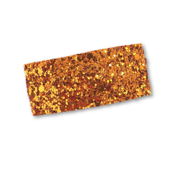Glitter Snap Hair Clip (Burnt Orange)