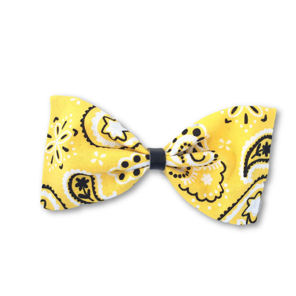 Yellow Paisley Bow Headband