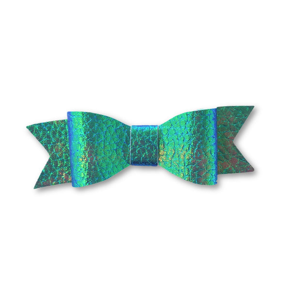 Wynn Iridescent Leatherette Bow Headband
