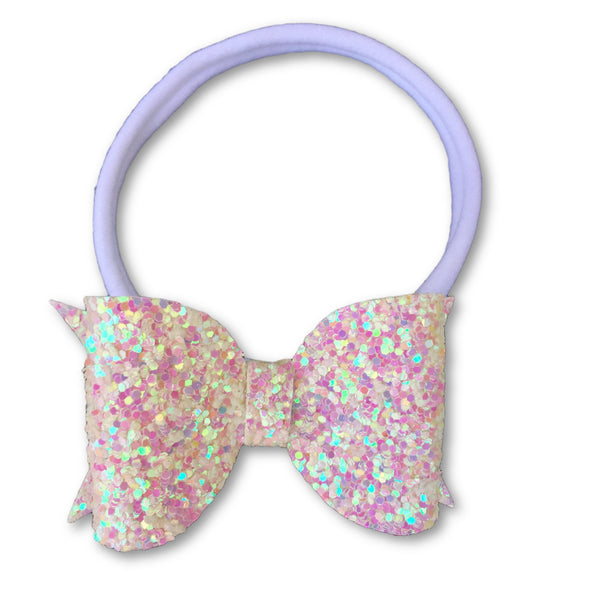 Eva Small Fairy Dust Glitter Bow Headband