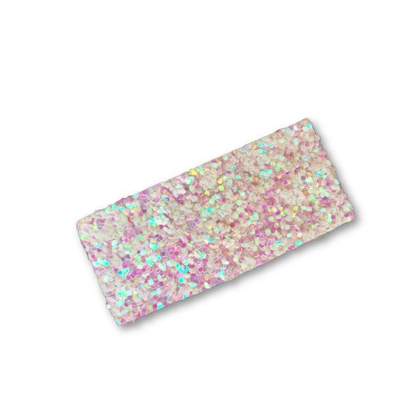 Glitter Snap Hair Clip (White Fairy Dust)