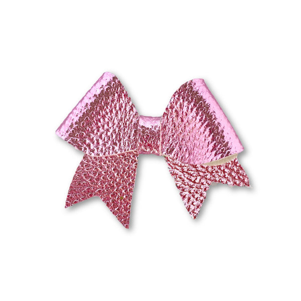 Ellie Bright Pink Leatherette Bow Headband - Apollo & Wynn