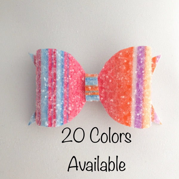 Medium Bow (Pick your Glitter) Hair Clip