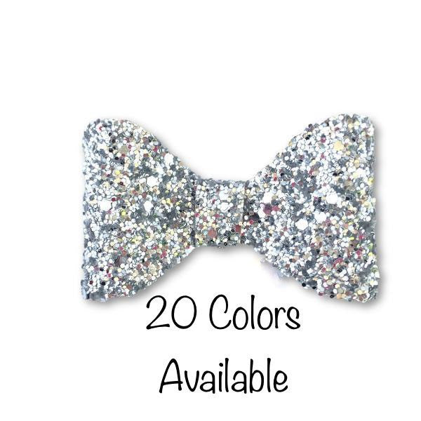 Juliette Bow (Pick your Glitter) Hair Clip