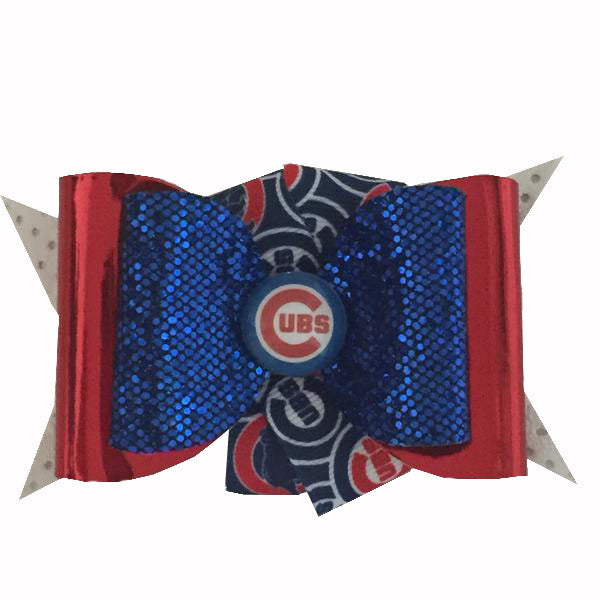 Chicago Cubs Hair Clip with Ribbon